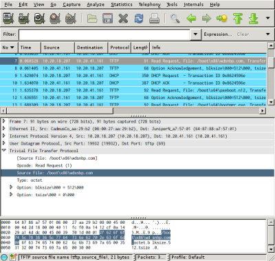 WDS in Wireshark