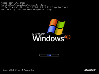 Windows XP iSCSI boot using sanbootconf